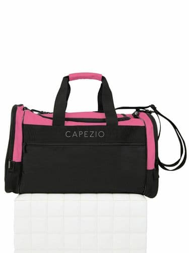 Capezio Everyday Dance Duffle Kit Bag Holdall Black/Hot Pink B246